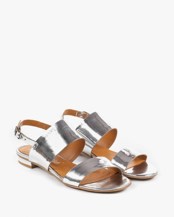 Srebrne sandały damskie skórzane 2299/120