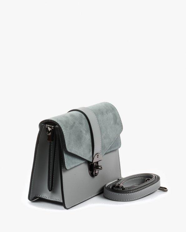 Skórzana torebka damska RBSA160/SZARY
