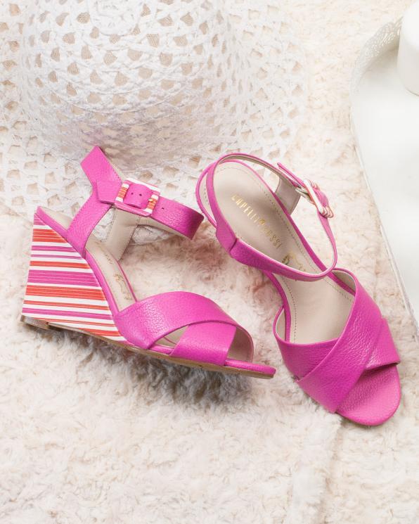Różowe sandały damskie skórzane KON7785-203-237/AZALEI