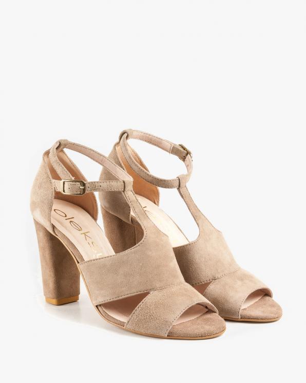 Beżowe sandały damskie skórzane 2294/A80