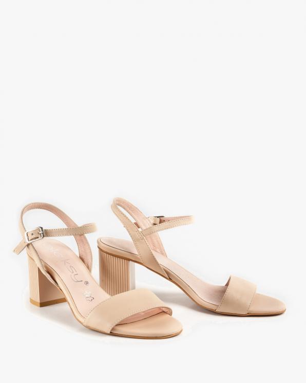 Beżowe sandały damskie skórzane 2341/B19