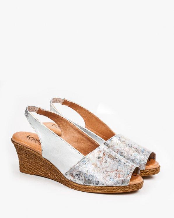 Srebrne sandały damskie skórzane EXI54101/ENIO-C/621