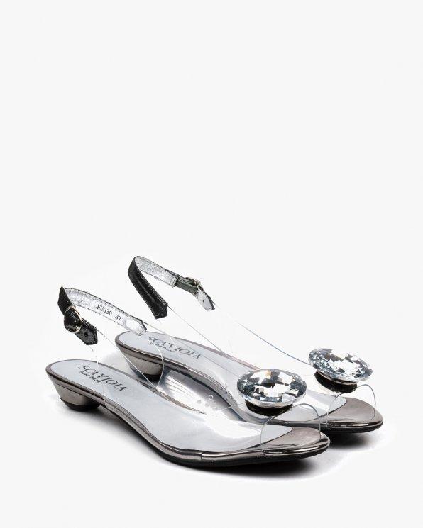 Srebrne sandały damskie SCAFUG30/SILVER