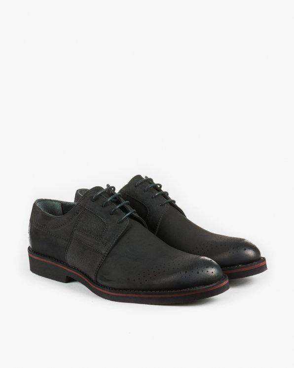 Półbuty czarne męskie STY6030/BLACK NUB