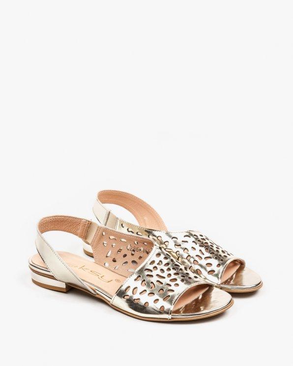 Złote sandały damskie skórzane 2286/A38