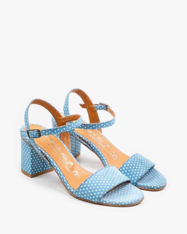 Niebieskie sandały damskie skórzane 2457/D52