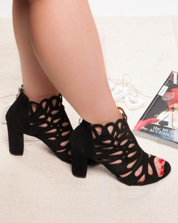 Czarne sandały damskie skórzane 2351/147