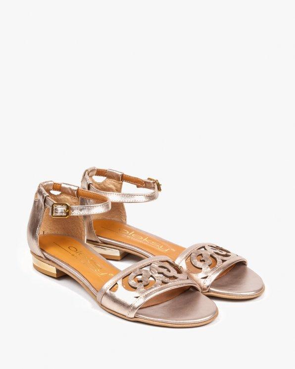 Złote sandały damskie skórzane 2287/C04