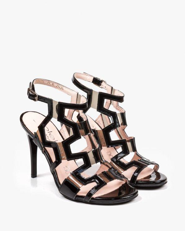 Czarne sandały damskie skórzane 2434/542/D67