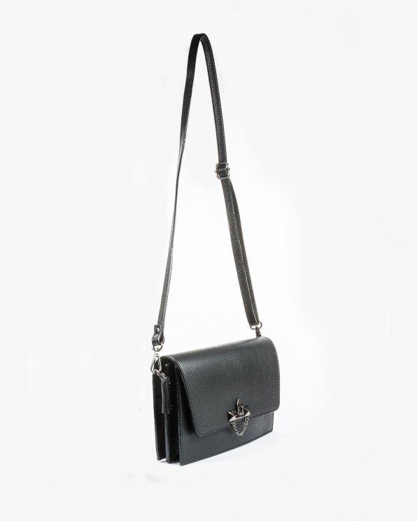 Skórzana torebka damska RBSA116/CZARNY