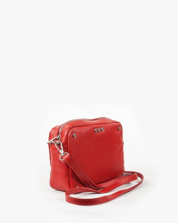 Skórzana torebka damska RBSA43/CZERWONY