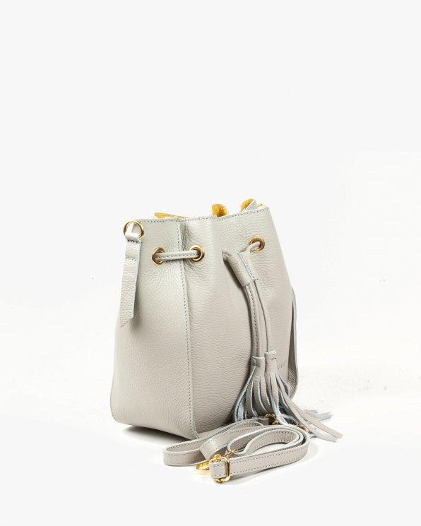 Skórzana torebka damska RBSA221/J.SZARY