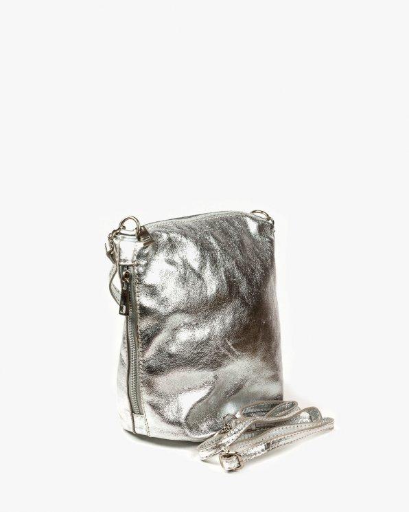 Skórzana torebka damska RBS681/SREBRO