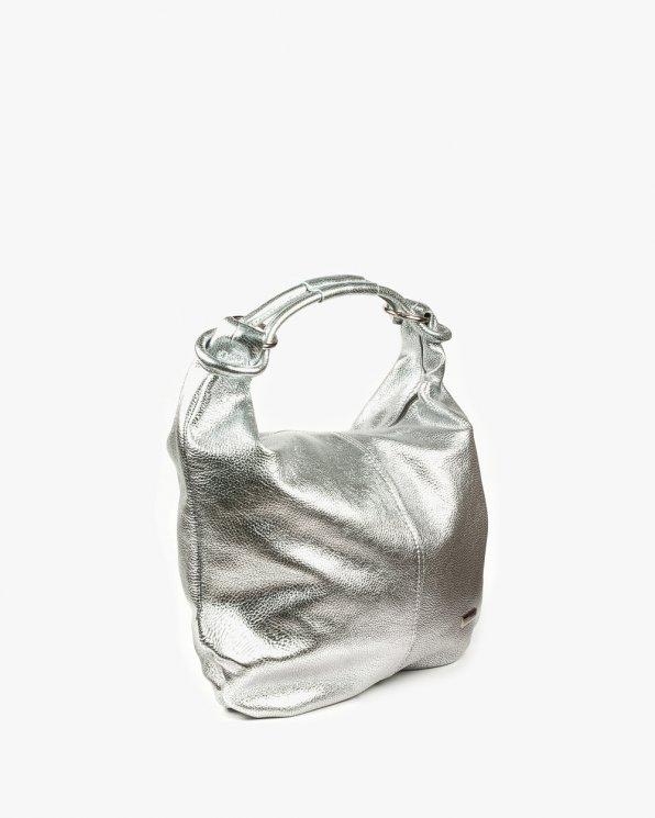 Skórzana torebka damska RBSA169/SREBRO
