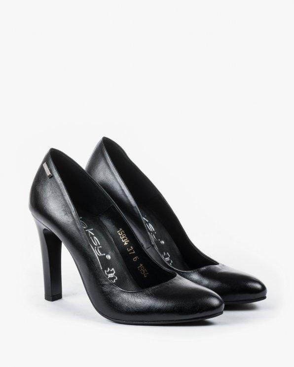 Czółenka czarne damskie skórzane 1954/A89