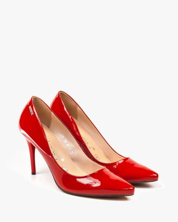 Czerwone czółenko damskie skórzane 1225/539/000/000/000