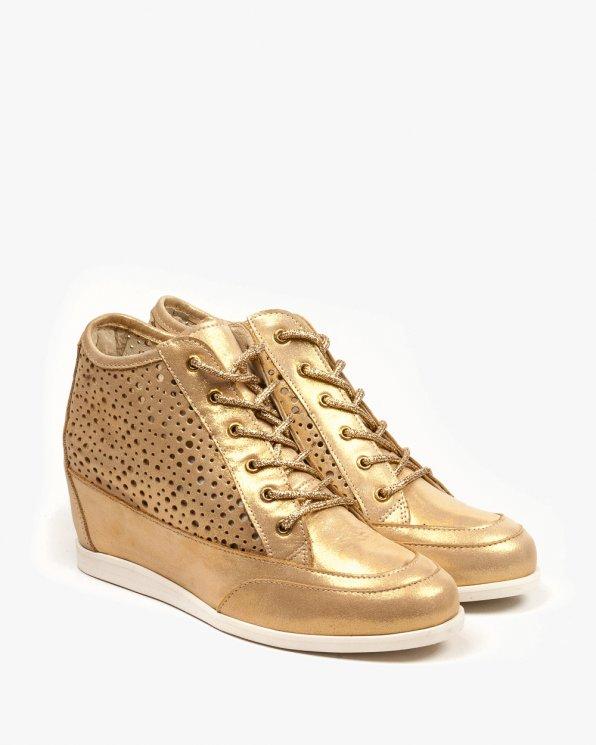 Żółte sneakersy damskie skórzane 1984/A53