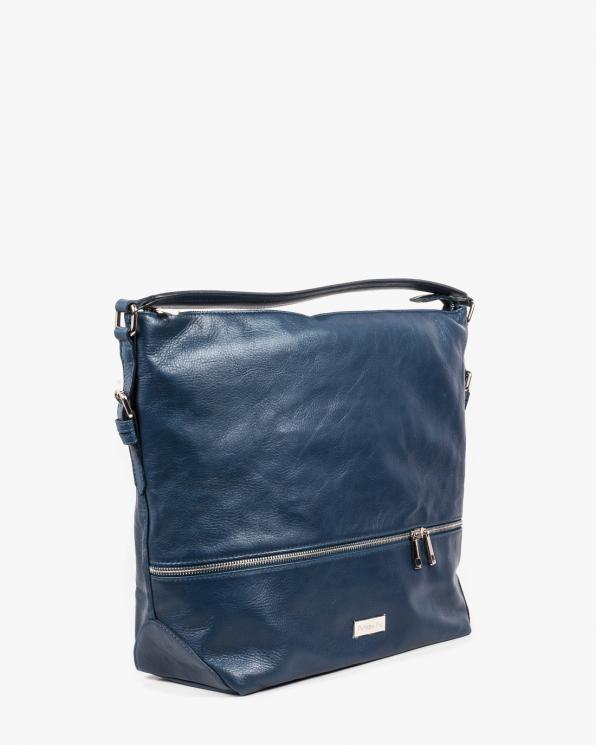 Niebieska torebka damska skórzana GRE318-017/C. NIEBIESKI