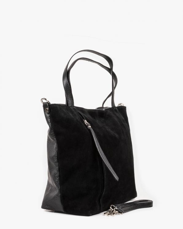 Czarna torebka damska skórzana GRE419-011/CZARNY