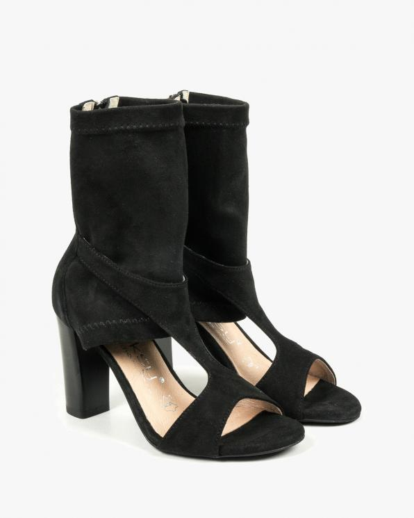 Czarne sandały damskie skórzane 2837/147/E03