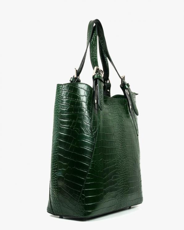 Zielona torebka skórzana damska GRE19-11COCO/C.ZIELONY