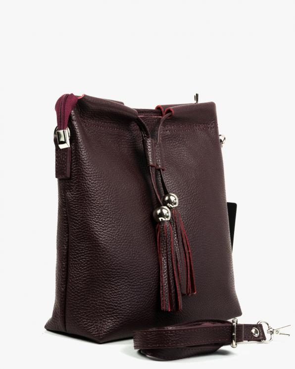 Bordowa torebka damska skórzana GRE419-036/BORDO