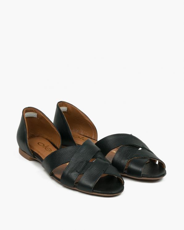Czarne sandały damskie skórzane 3526/C47