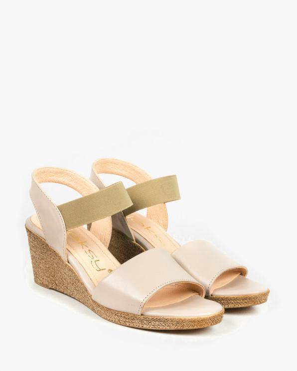 Beżowe sandały damskie skórzane 3019/F59