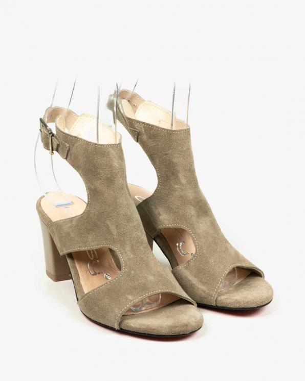 Beżowe sandały damskie skórzane 2824/E26/001
