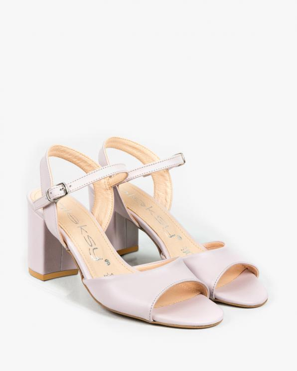 Różowe sandały damskie skórzane 3028/F58