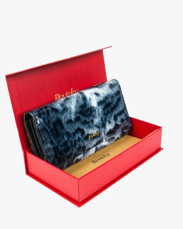 Szary portfel damski skórzany GRE8803-PTRRFID/CZARNY