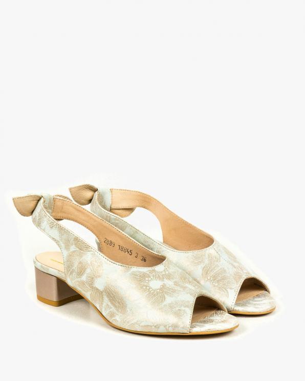 Beżowe sandały damskie skórzane 2889/C96