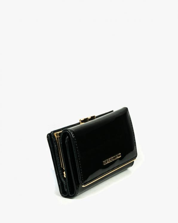 Czarny portfel damski skórzany GREZLL-108/CZARNY