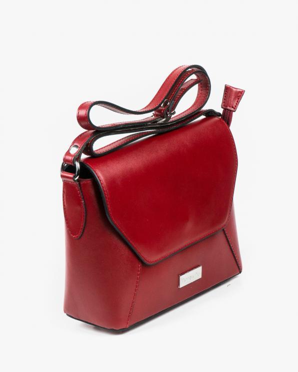 Czerwona torebka damska skórzana GRE05-004/CIEMNY CZERWONY