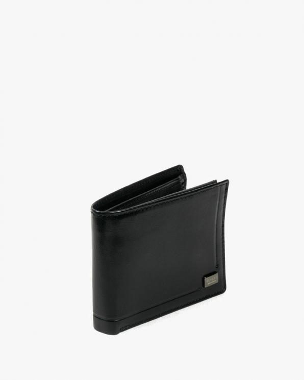 Czarny portfel męski skórzany GRECPR-021-BAR/CZARNY