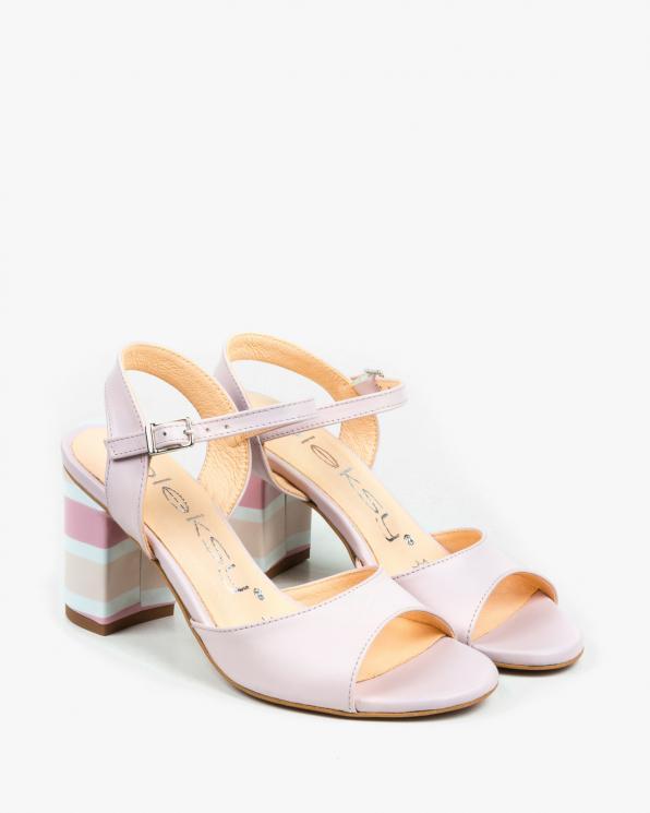 Różowe sandały damskie skórzane 3028/F58/F63