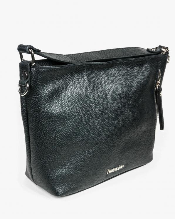 Czarna torebka skórzana damska GRE318-074/CZARNY
