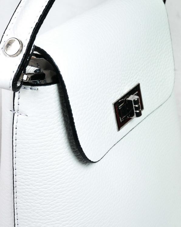 Biała torebka damska skórzana GRE419-018/BIAŁY