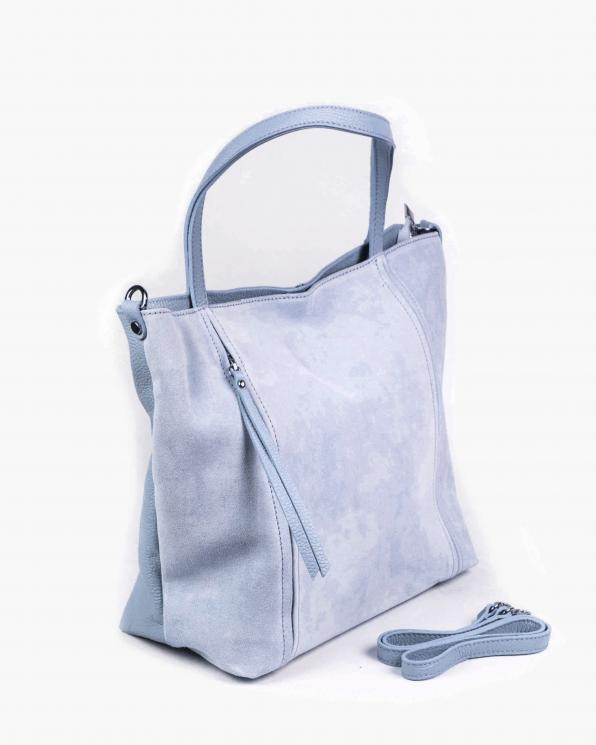 Niebieska torebka damska skórzana GRE419-011/BŁĘKITNY