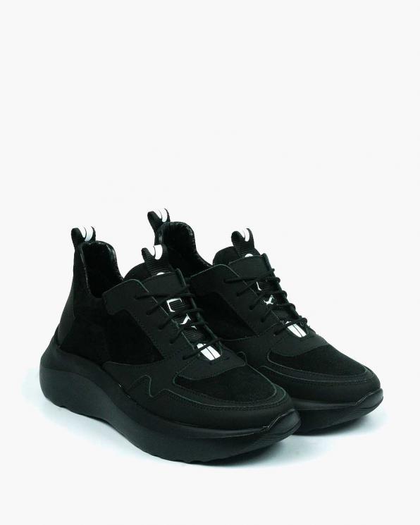 Czarne adidasy damskie skórzane 3677/H05/147
