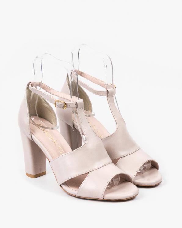 Beżowe sandały damskie skórzane 2294/F59