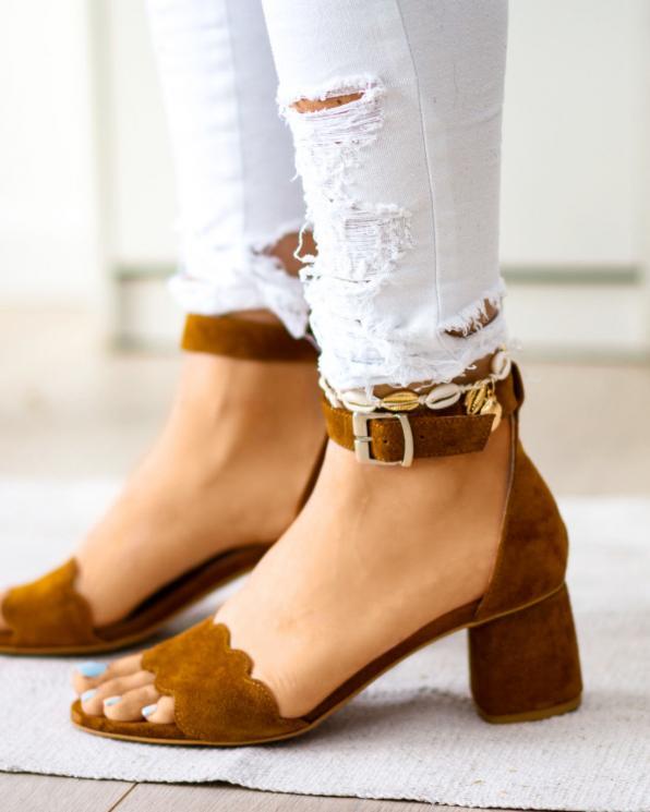 Rude sandały damskie skórzane 2696/E25