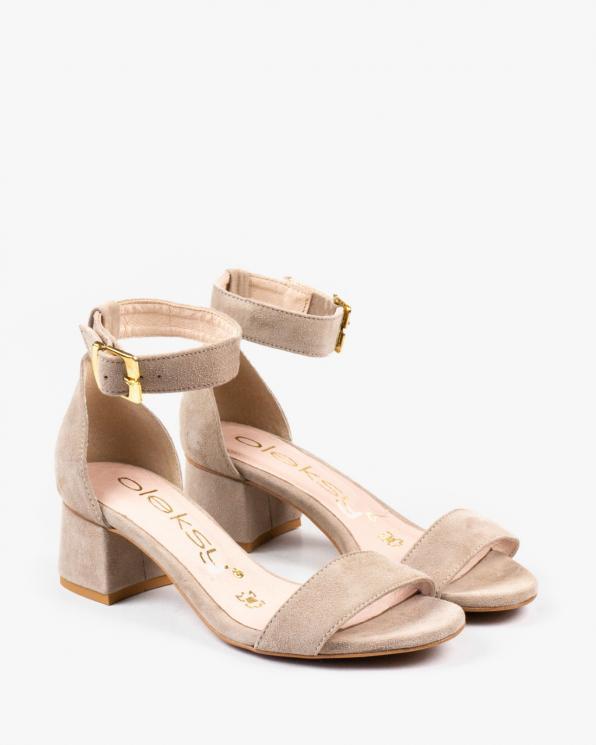 Beżowe sandały damskie skórzane 2148/F80