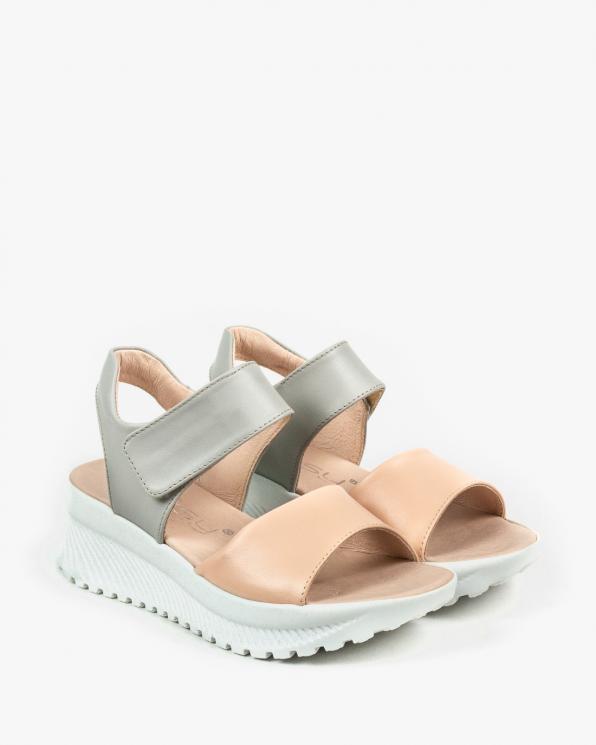 Wielokolorowe sandały damskie skórzane 3085/F58/C84