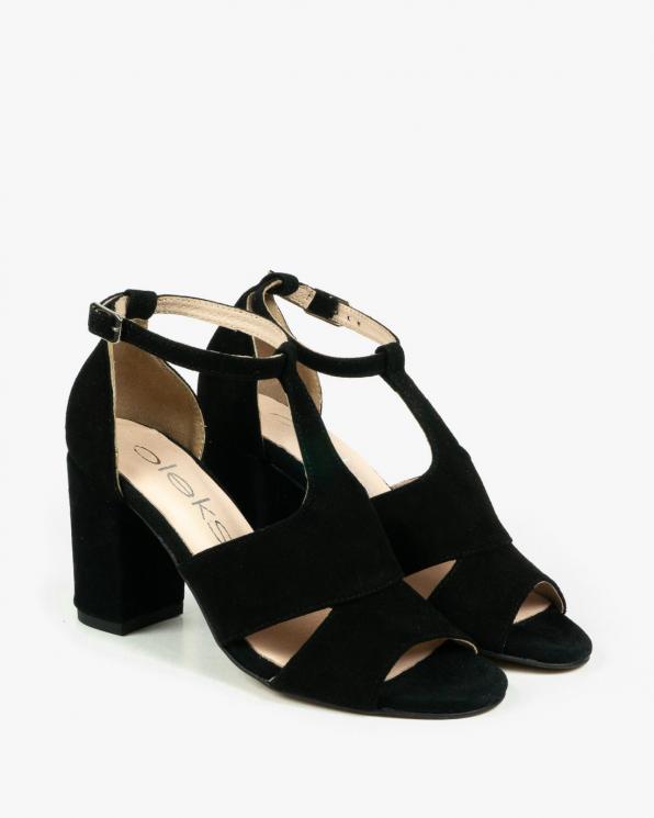 Czarne sandały damskie skórzane 3072/147