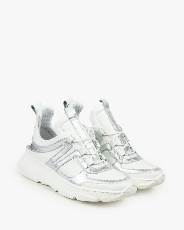 Białe adidasy damskie skórzane 3148/534/963