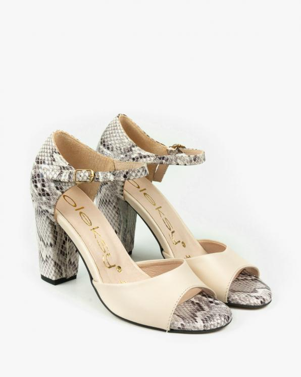 Beżowe sandały damskie skórzane 2295/F66/F67