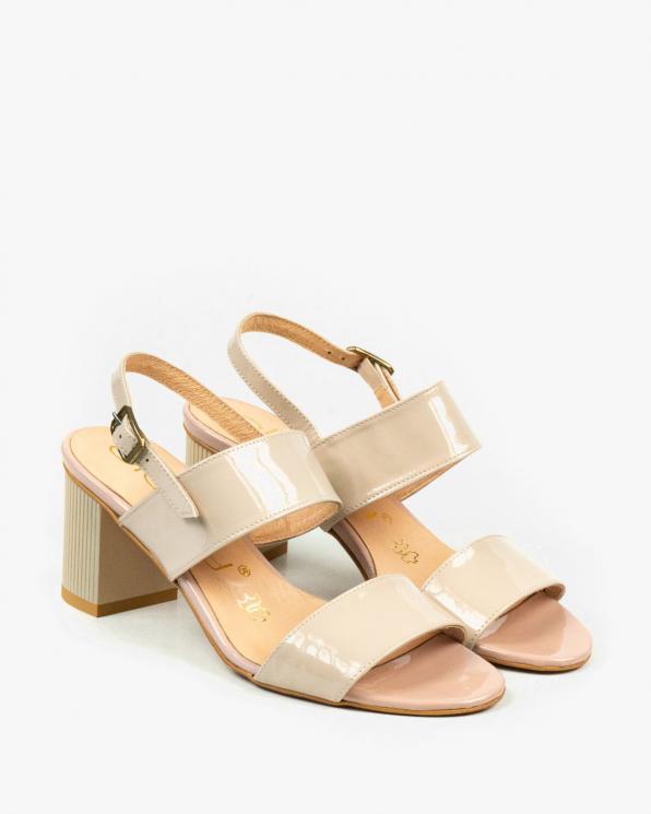 Beżowe sandały damskie skórzane 2340/661