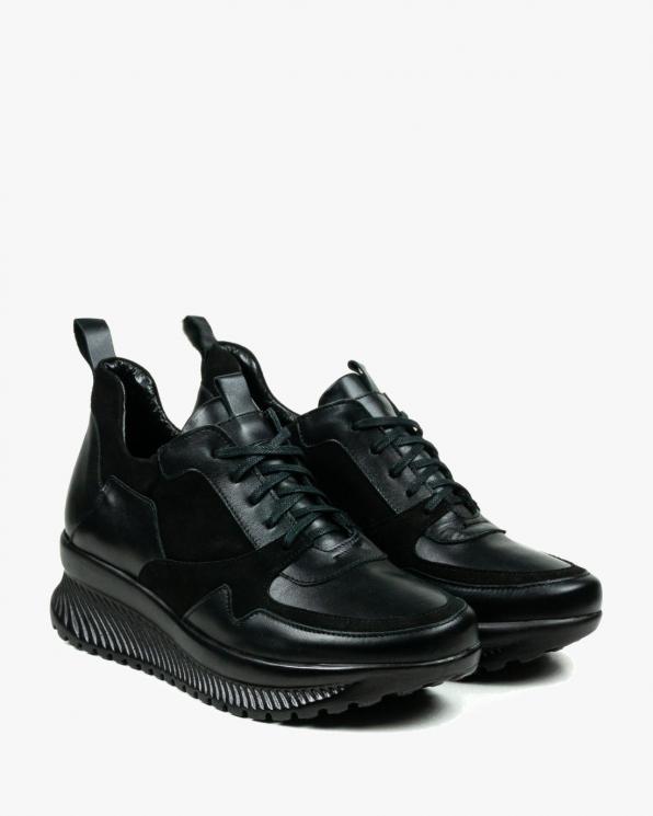 Czarne adidasy damskie skórzane 3098/A89/147