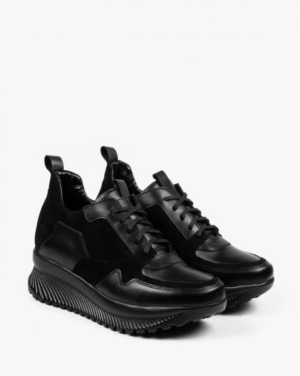Czarne adidasy damskie skórzane 3144/A89/147